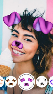 اسکرین شات برنامه Face Live Camera: Photo Filters, Emojis, Stickers 1